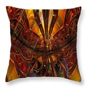 Peacock Feather Microscope View Fx  Throw Pillow