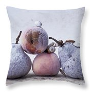 Pears And Apples Throw Pillow