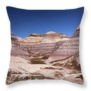 Petrified Forest Blue Mesa Throw Pillow