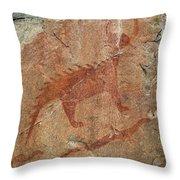 Petroglyph At Agawa Rock Throw Pillow