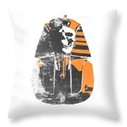 Pharaoh Stencil  Throw Pillow by Pixel  Chimp