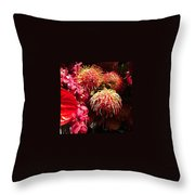 Philadelphia Flower Show Throw Pillow