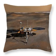 Phoenix Mars Lander Throw Pillow