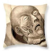 Physiognomical Illustration Of Human Throw Pillow