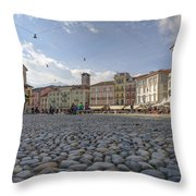 Piazza Grande - Locarno Throw Pillow