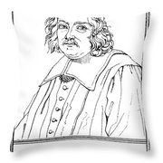 Pierre De Fermat, French Mathematician Throw Pillow by Science Source