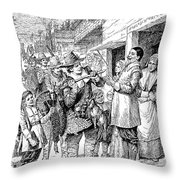 Pilgrims: Thanksgiving, 1621 Throw Pillow