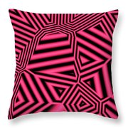 Pink And Black Abstract Throw Pillow