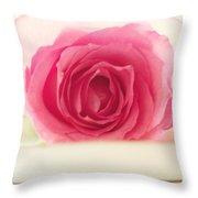 Pink Rose And Teacup Throw Pillow
