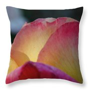 Pink Sunshine Throw Pillow