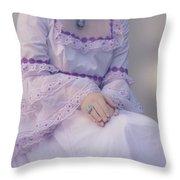 Pink Wedding Dress Throw Pillow