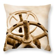 Pipeline Valves Throw Pillow