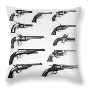 Pistols And Revolvers Throw Pillow