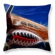 Plane Flying Tigers Throw Pillow