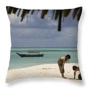 Pongwe Beach Hotel  Throw Pillow