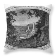 Poor Richard Illustrated Throw Pillow