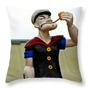 Popeye In Crystal City Throw Pillow