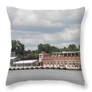 Port Of Rochester Throw Pillow