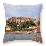 Porto Maurizio - Liguria Throw Pillow by Joana Kruse
