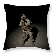 Portrait Of A U.s. Marine Throw Pillow