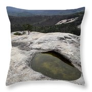 Pothole Caused By Erosion Throw Pillow