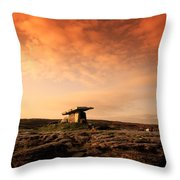 Poulnabrone Dolmen, The Burren, Co Throw Pillow