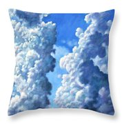 Powering Up Throw Pillow