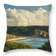 Praia Do Amado Throw Pillow