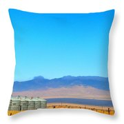 Prairie Silos Throw Pillow