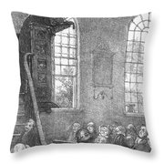 Preacher, 19th Century Throw Pillow