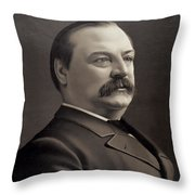 President Grover Cleveland Throw Pillow