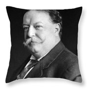 President William Howard Taft Throw Pillow by International  Images
