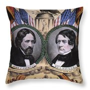 Presidential Campaign, 1856 Throw Pillow