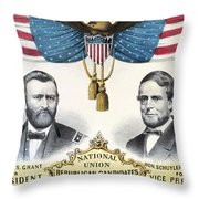 Presidential Campaign, 1868 Throw Pillow