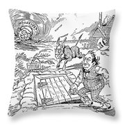 Presidential Campaign, 1900 Throw Pillow