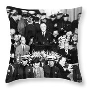 Presidential Campaign, 1936 Throw Pillow
