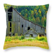 Prest Road Barn Throw Pillow