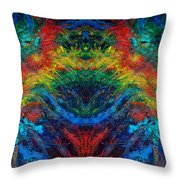 Primary Abstract IIi Design Throw Pillow