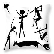 Primitive Art - Various Figures Throw Pillow