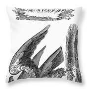 Printers Cut, 1825 Throw Pillow
