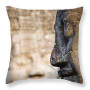 Profile Of Avalokiteshvara Statue Throw Pillow