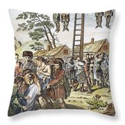 Protestant Martyrs, 1563 Throw Pillow by Granger