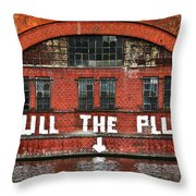 Pull The Plug Throw Pillow