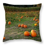 Pumpkin Patch Throw Pillow