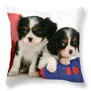 Puppies With Rain Boots Throw Pillow
