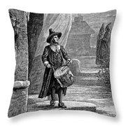 Puritan Church Drummer Throw Pillow by Granger