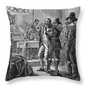 Puritan Punishment Throw Pillow by Granger