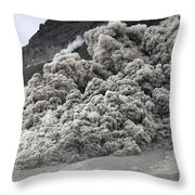 Pyroclastic Flow Descending The Flank Throw Pillow