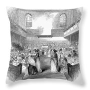 Quaker Meeting, 1843 Throw Pillow