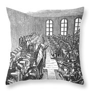 Quaker Meeting Throw Pillow by Granger